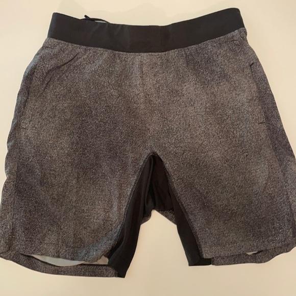 """Large 9"""" Lululemon """"The Short"""" Heathered Grey"""